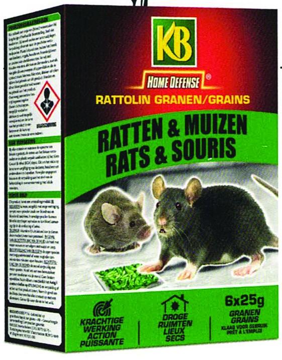 KB RATTEN EN MUIZEN GRAINS 150G
